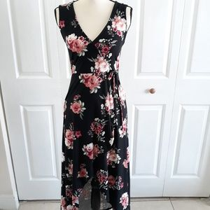 J for Justify floral  high low maxi Wrap dress SzM